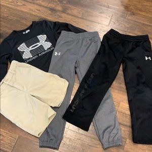 Under armour lot of boys clothing all size 7